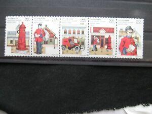 Australia - 1980  National Stamp Week Strip of 5 and Mini sheet mint