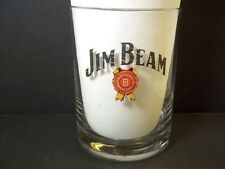 Jim Beam vintage thin rocks old fashioned glass 10 oz