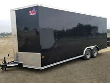 8.5x20 Enclosed Trailer Cargo V Nose 22 Car Hauler 8 Motorcycle Box Lawn 2018