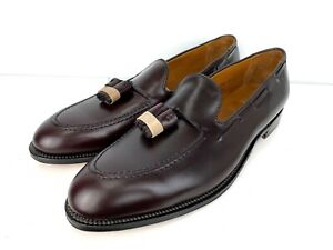Alden New England Men Burgundy Leather Tassel Loafers Slip On 663 Sz US 14 AAA