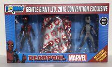 SDCC 2016 Gentle Giant Deadpool Secret Wars Micro Bobble 3 Pack Con Exclusive!!!
