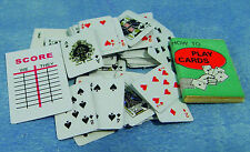 1:12 Scale Set Of Playing Cards Game Book Nursery Tumdee Dolls House Accessory