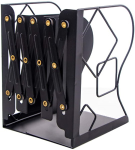 JIARI Adjustable Bookends Metal Book Ends Holder Shelf Heavy Duty Nonskid for