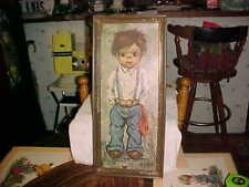 "Vintage Wall Art Print by Maio Alvaro Mod Retro Picture 21 x 9.5""  Plastic Frame"