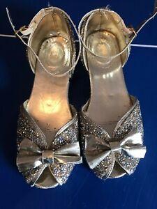 Disney Dress Up Shoes Heels Belle Size 1 Uk sparkling glitter