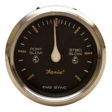 Faria Boat Engine Synchronizer Gauge SY9712A | Regal 3 3/8 Inch Silver
