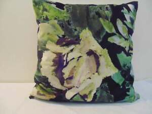 Designers Guild Velvet  Fabric Bloomsbury Rose Indigo Cushion Covers  D2