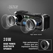 Portable 20W Bluetooth Speaker Stereo DEEP BASS Wireless Waterproof AUX VTIN