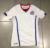 Men's PUMA CHILE NATIONAL Sz S SOCCER TEAM 2014-15 white HOME FOOTBALL JERSEY