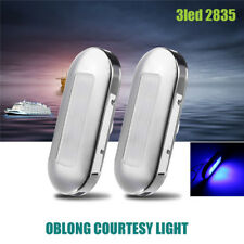 2x LED Marine Boat Yacht Stainless Steel Anchor Stern Light Blue 12V Waterproof