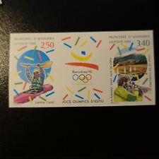 ANDORRE TIMBRE NON DENTELÉ IMPERF N°419A JEUX OLYMPIQUES 1992 NEUF ** MNH