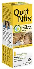 2 Pack Hylands Quit Nits Head Lice Homeopathic Preventive Spray Non-toxic 4oz Ea