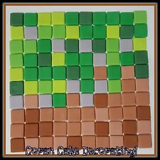 100 pack of Edible Fondant Squares, Minecraft, Checkerboard, 1.5cms  ⭐️