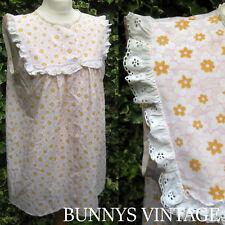 vtg 60s pink white broderie anglais lace cotton mini dress mod babydoll nightie
