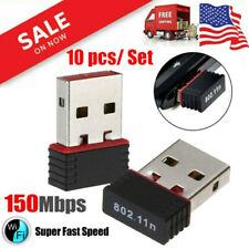 Lot of 10 Mini USB WIFI Wireless 802.11B/G/N LAN Card Network Dongle Adapter USA