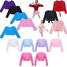 Kid Girls Ballerina Warm Up Knit Cardigan Front Knot Top Wrap Dance Shrug Shawl