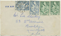 IRELAND 1954 Marian Year (2 sets) as a mixed postage on Airmail-FDC to USA