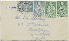 2153 IRELAND 1954 Marian Year (2 sets) as a mixed postage on Airmail-FDC to USA