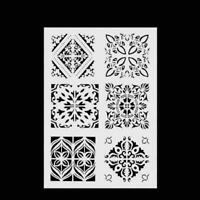 Layering Stencils For Walls Painting Scrapbooking Craft Template DIY Hot M6V9