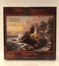 """Thomas Kinkade """"The Light Of Peace"""" 500 Oversized Piece Puzzle Lighthouse *New*"""