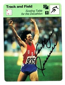 Caitlyn Bruce Jenner signed autographed auto BIG 1978 Sportscaster Olympic Card