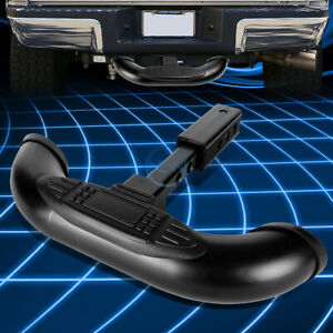 """1.25/2""""Coated Steel Trailer Hitch Receiver Tow Cover/Rear Bumper Step Bar Guard"""