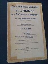 FLORE COMPLETE DE LA FRANCE G.BONNIER&G.LAYENS 5338 FIGURES  A PARIS IN8 1962