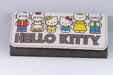 Sanrio Hello Kitty Clutch Wallet Purse Leather Canvas Collectible