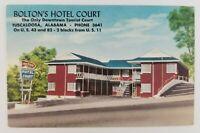 Postcard Boltons Hotel Court Downtown Tuscaloosa Alabama