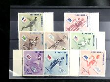 TIMBRES JEUX OLYMPIQUES : 1957 DOMINICAINE YVERT N° 457/61 + PA 108/10** NEUF