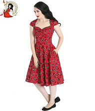 HELL BUNNY ALISON 50s DRESS cherry ROCKABILLY allison RED XS-4XL