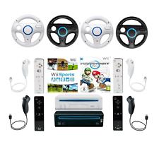 Consola Nintendo Wii negro blanco Mario Kart, Sports original Controller selección