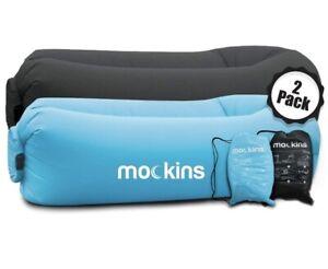 Mockins 2 Pk Black/blue Inflatable Loungers