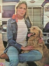 Deborah Raffin Vintage Headshop Poster Pon-up 1970's Dove Inc. Ian Vaughan Dog