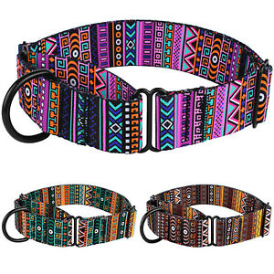 Training Dog Collar Safety Nylon Martingale Collars for Dogs Pet Medium Large