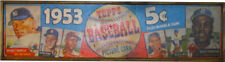 AWESOME Vintage Style 1953 Topps Baseball Card Wooden Sign Mickey Jackie