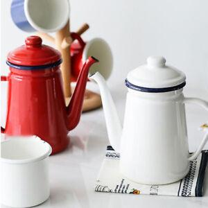 Yutaka Horo Enamel 1.1L Coffee pot, Pour over kettle, teapot, Made In Japan