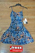 NWT KENZIE Cheetah Dress Lined KS6K9490 Spaghetti Strap, Size S Original $89