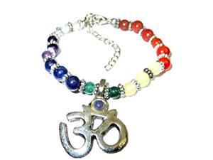 Jet Chakra Om Bracelet Negative Ions Provider Chakra Stretch Balancing Positive