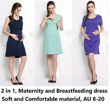 Maternity dress & breastfeeding dress,nursing office casual wear,cotton, 301