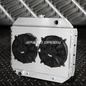 2-Row Performance Radiator Replacement+Cooling Fan for 68-79 Ford F100/F150/F250