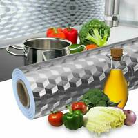 Oil-proof Self Adhesive Aluminum Foil Waterproof Wall Sticker Home Kitchen Decor