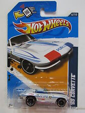 HOT WHEELS 2012  HW MAIN STREET '65 CORVETTE #6/10 POLICE CAR - TAMPO ERROR