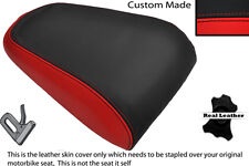 BRIGHT RED & BLACK CUSTOM FITS YAMAHA MT 03 06-13 REAR LEATHER SEAT COVER