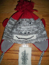 New Nirvanna Designs Wool Sock Monkey Pilot Hat