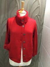 Deep Red, Royal Mer Bretagne Cardigan, Worn Twice, Fr 40/Uk 12, Versatile Use