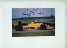 Gabriele Tarquini Coloni FC188 Brazilian Grand Prix 1988 Signed Photograph 1