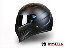 Matrix Street FX Pro Streetfighter Motorcycle helmet Simpson Bandit style