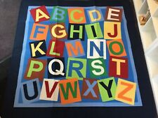 Large Children's Rug Alphabet ABC 200cm x 200cm Home School Nursery