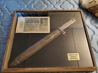 Authentic 1916 German Ersatz Bayonet w/Scabbard WWI